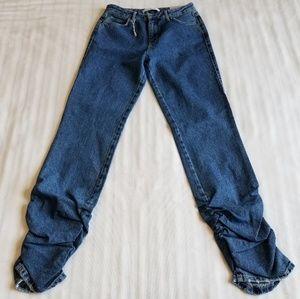 Zara Trafaluc Slouchy-Extra long Denim wear Jeans